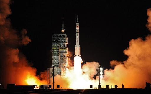 有人宇宙船「神舟7号」打ち上げ