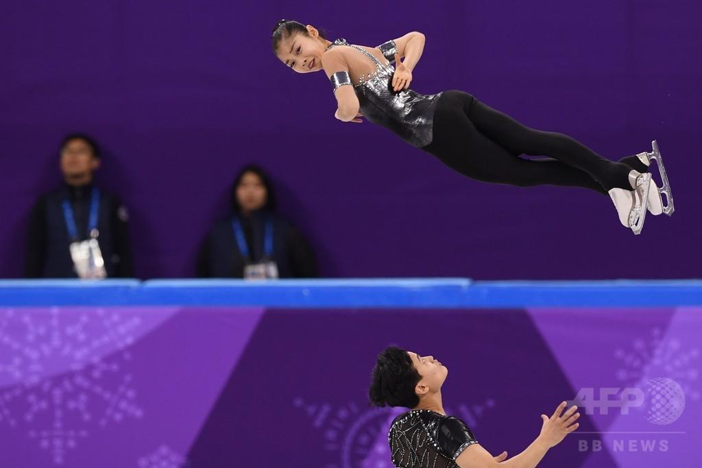 北朝鮮ペアが夢の五輪デビュー、PB更新でフリー進出