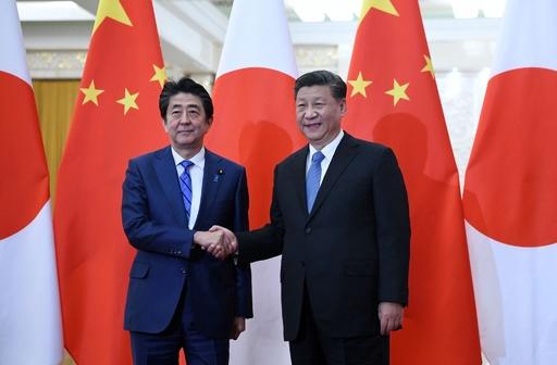 安倍首相が訪中、習氏と会談 香港やウイグル問題に言及