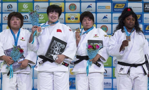 于頌が女子78キロ超級で金、日本は銀と銅 世界柔道