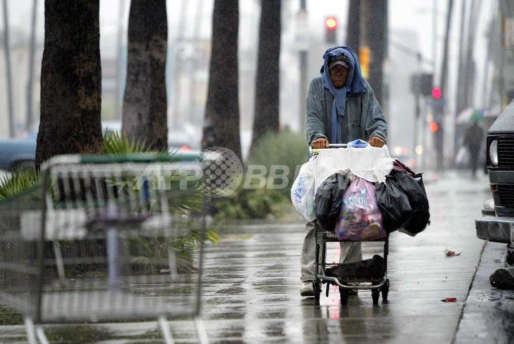 ロサンゼルスのホームレス人口は全米最大、当局発表