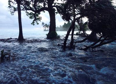 低海抜のマーシャル諸島、最大級の大潮で首都浸水の恐れ