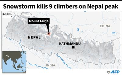 ネパールで遭難の韓国登山隊、遺体収容 現場は「爆弾が破裂」したよう