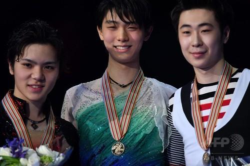 羽生がFS歴代最高得点で逆転優勝、宇野は銀 世界フィギュア