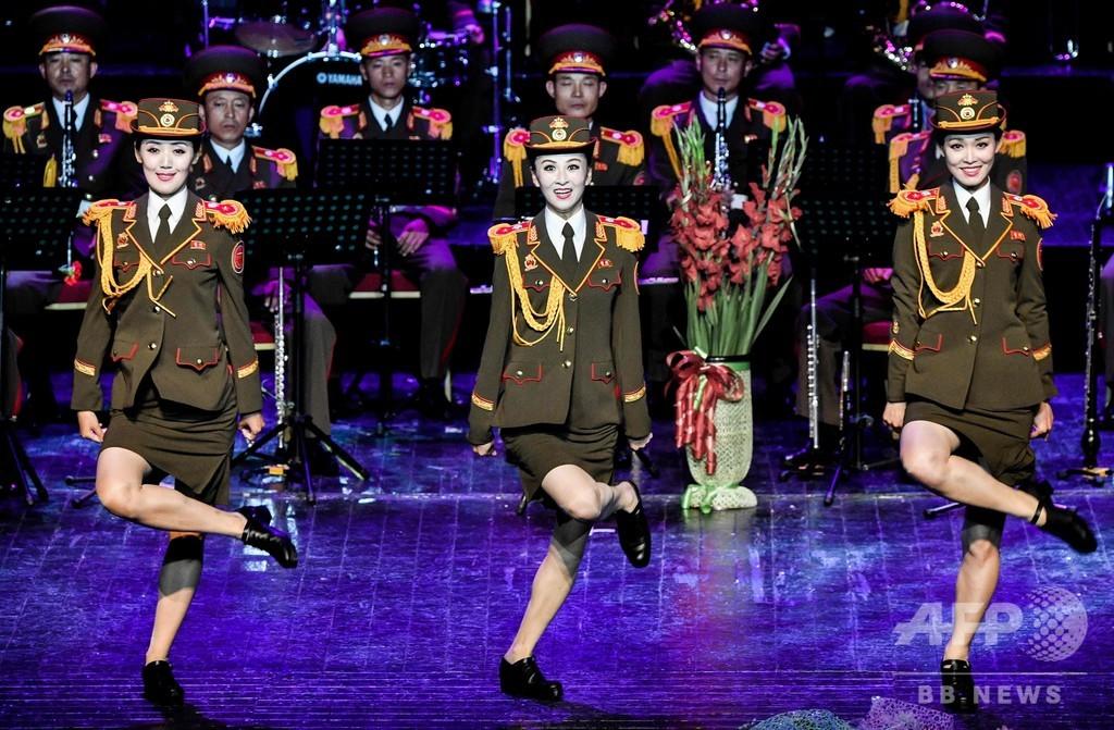 朝鮮人民軍の合唱団、ロシアの軍隊音楽祭に登場