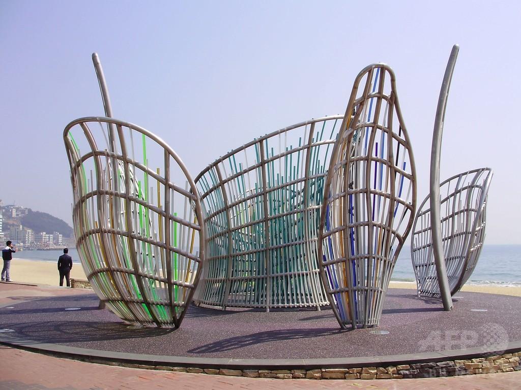 韓国・釜山の区役所、米有名芸術家の作品を「目障り」として廃棄