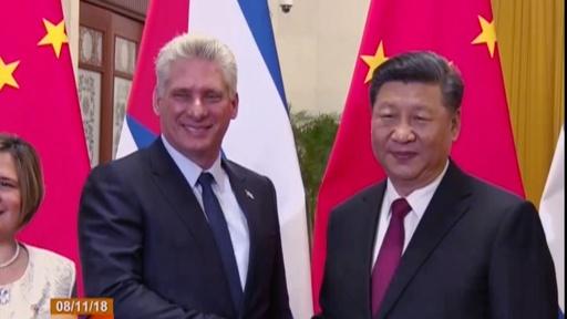 動画:キューバ議長が中国訪問、習国家主席と会談