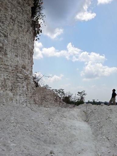 マヤ遺跡を建設業者が破壊、道路資材に転用を計画 中米ベリーズ