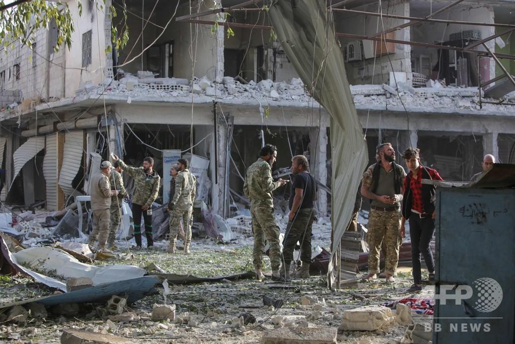 トルコ軍が奪取したシリア北東部の町で自動車爆弾攻撃、少なくとも13人死亡