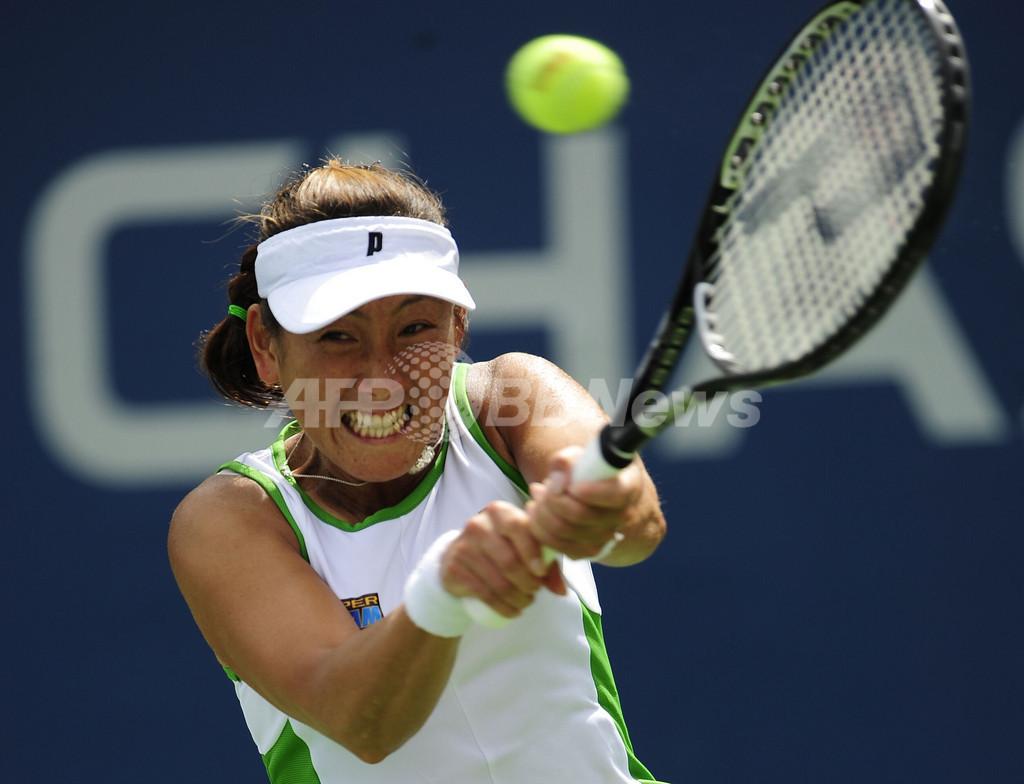 杉山 初戦でストーサーに敗れる、全米オープンテニス