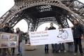 パリで羊飼いがデモ、オオカミ対策求め