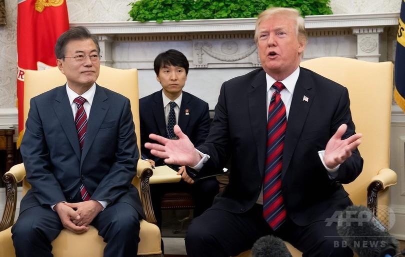 米朝首脳会談、延期の可能性も トランプ氏が言明