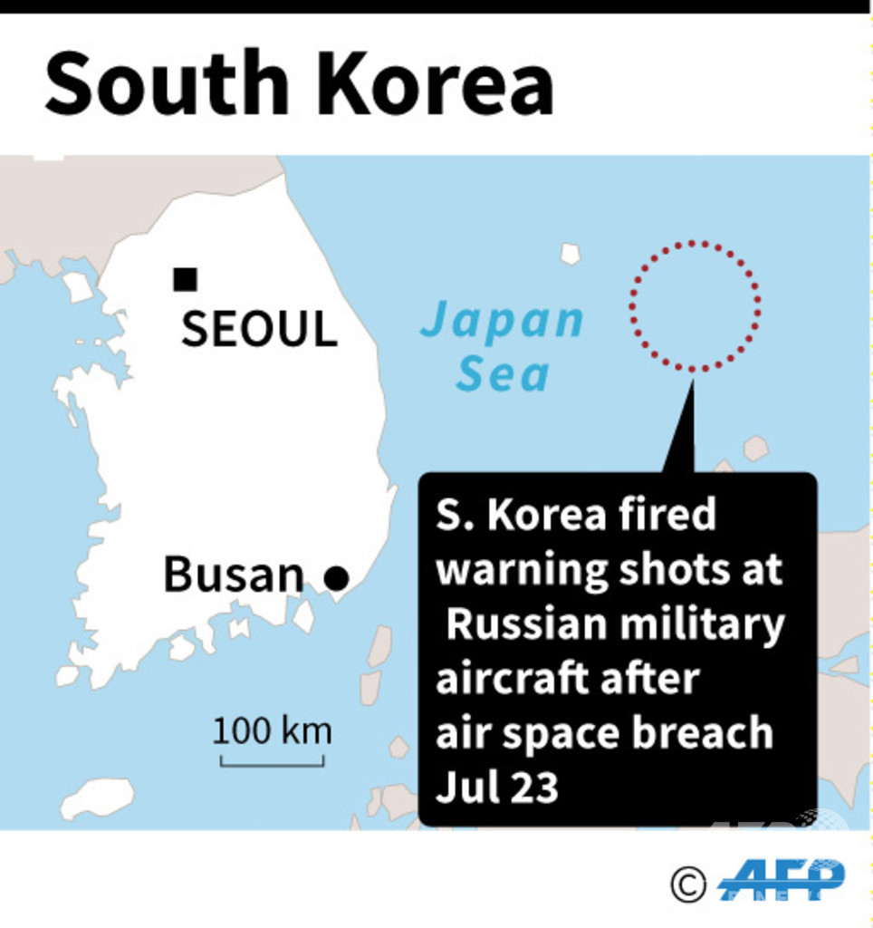 ロシア軍機による領空侵犯、合同演習実施の中国も否定