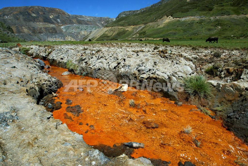 ペルーの鉱山、環境汚染で子どもに影響