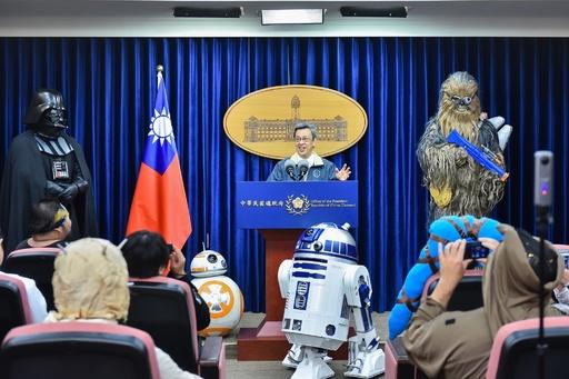台湾総統府でスター・ウォーズの日のイベント「ヨーダ」は不在