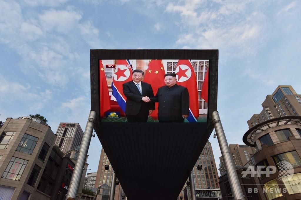 初訪朝の中国・習主席、金委員長と会談