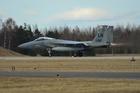 米F15戦闘機が墜落、バージニア州