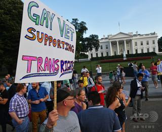 トランプ大統領、トランスジェンダーの軍入隊を事実上禁ずる文書に署名