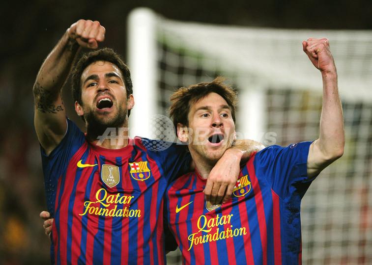 FCバルセロナ、メッシの2得点でミラン破り4強 欧州CL