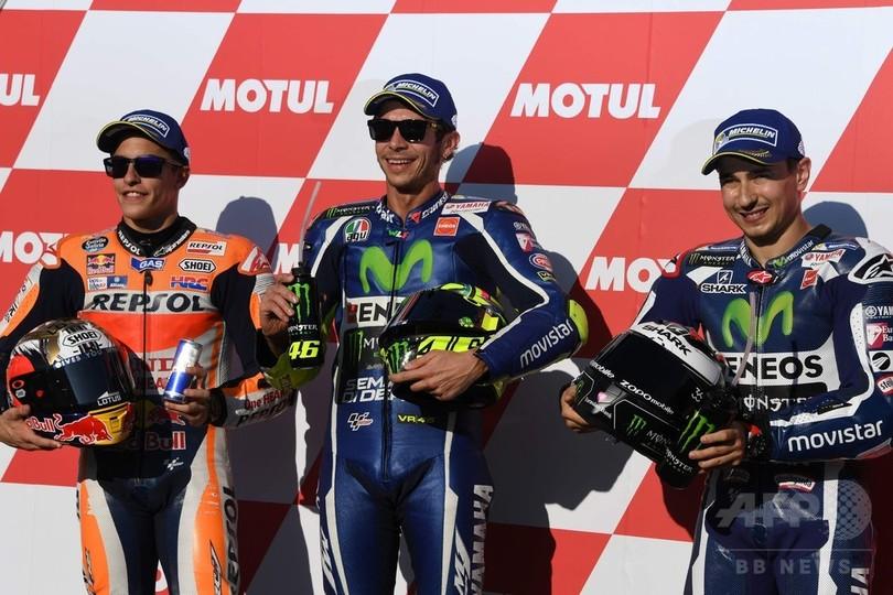 ロッシがPP獲得、午前中クラッシュのロレンソは3番手 日本GP
