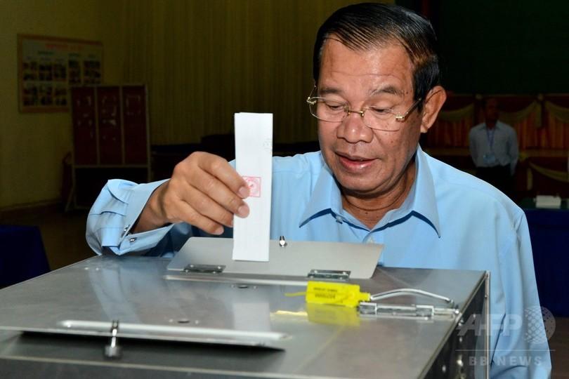 カンボジア上院選、与党が全議席獲得 野党解党で対抗不在