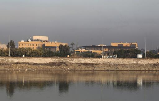 イラク首都の米大使館にロケット弾3発直撃、1発は夕食時の食堂に