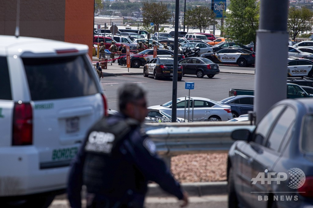 米テキサス州で銃乱射、20人死亡 26人負傷 20代の白人の男を拘束