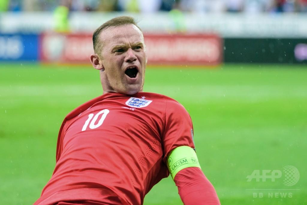 ルーニーの決勝点でイングランドが接戦制す、欧州選手権予選
