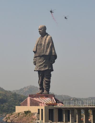 世界一高い「統一の像」、近くの貯水池からクロコダイルを移動 インド