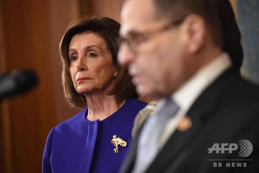 トランプ氏の弾劾訴追状発表 民主党、職権乱用など主張