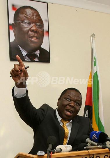 ツァンギライ首相、ムガベ大統領陣営との連立を一時停止 ジンバブエ