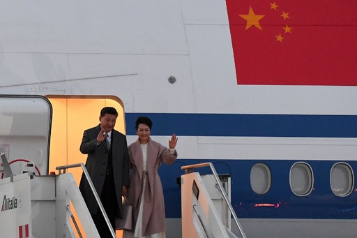中国国家主席が欧州歴訪、イタリアで「一帯一路」覚書 パリで仏独EU首脳と会談