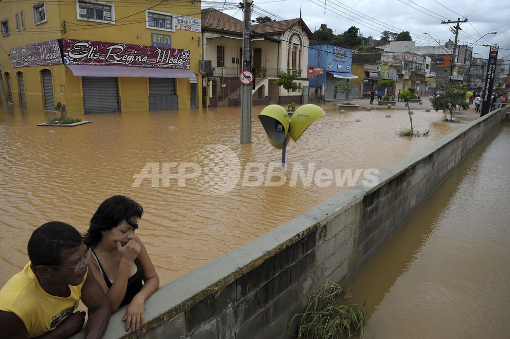 大雨で237人死亡、ブラジル南東部