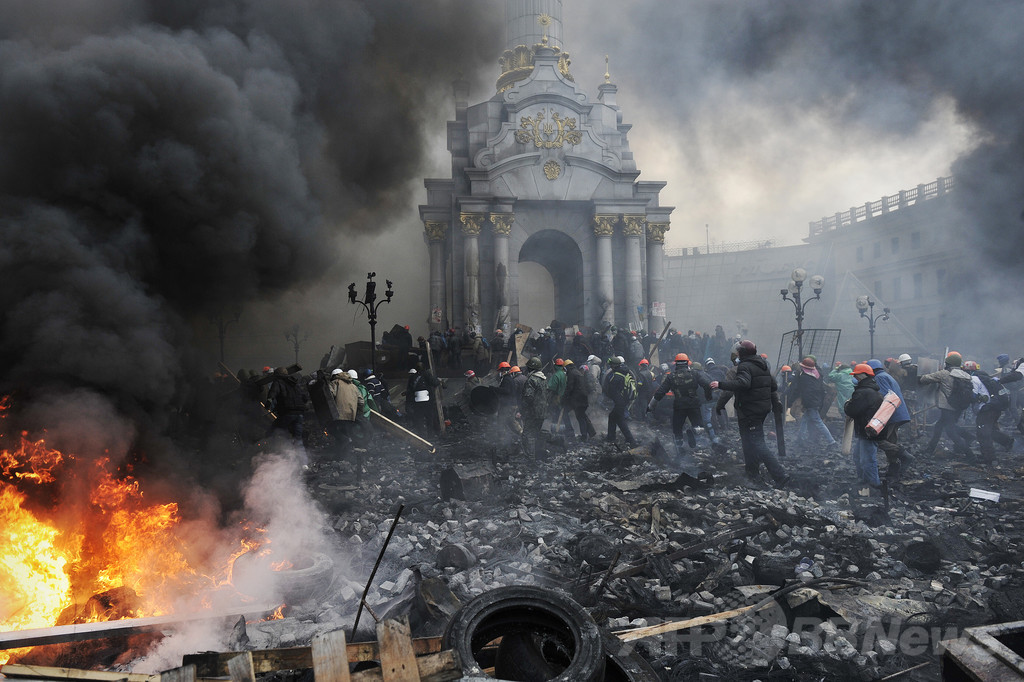 【写真特集】衝突続くウクライナ首都、3日間で約100人死亡