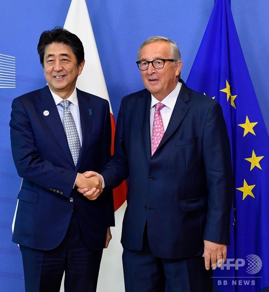 日EU、インフラ整備の連携強化 中国「一帯一路」に対抗