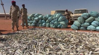 動画:スーダンで大麻19トン押収、国内最大規模の押収量