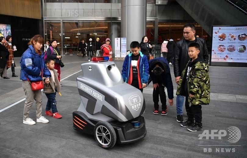 パトロールもロボット 成都の路上