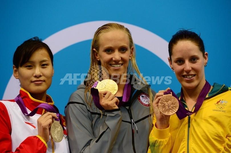 ボルマーが世界新で金メダル、女子100mバタフライ