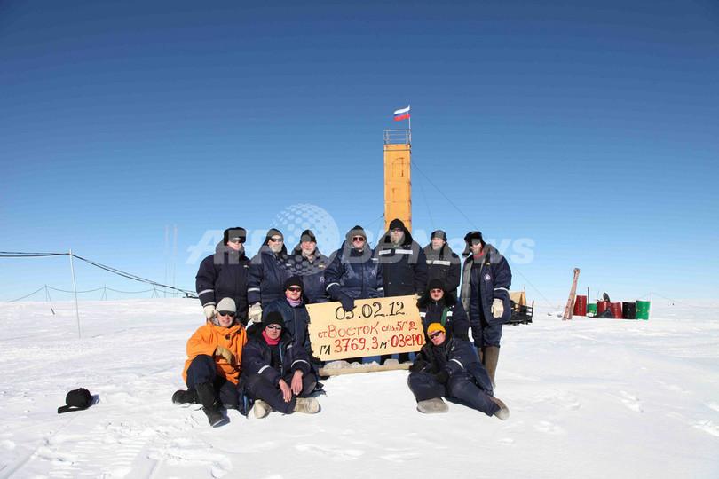 南極氷底湖で「新種バクテリア」発見か、露チーム