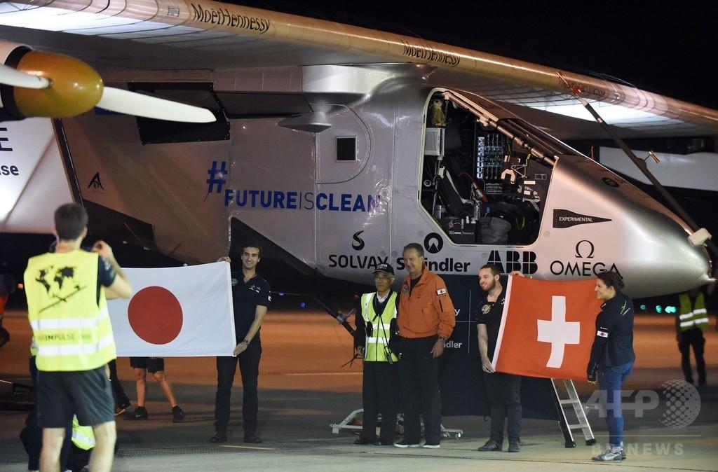 名古屋に足止めのソーラー機、離陸を延期