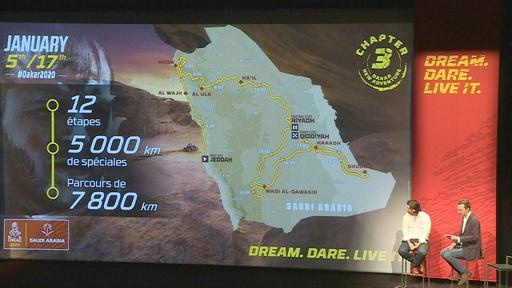 動画:サウジアラビア開催のダカールラリー、コースを発表