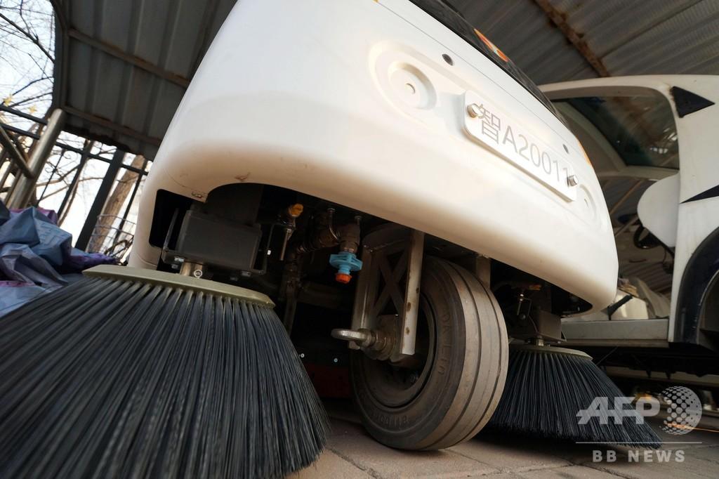 「白いカタツムリ」は6人相当の清掃こなす無人清掃車 天津