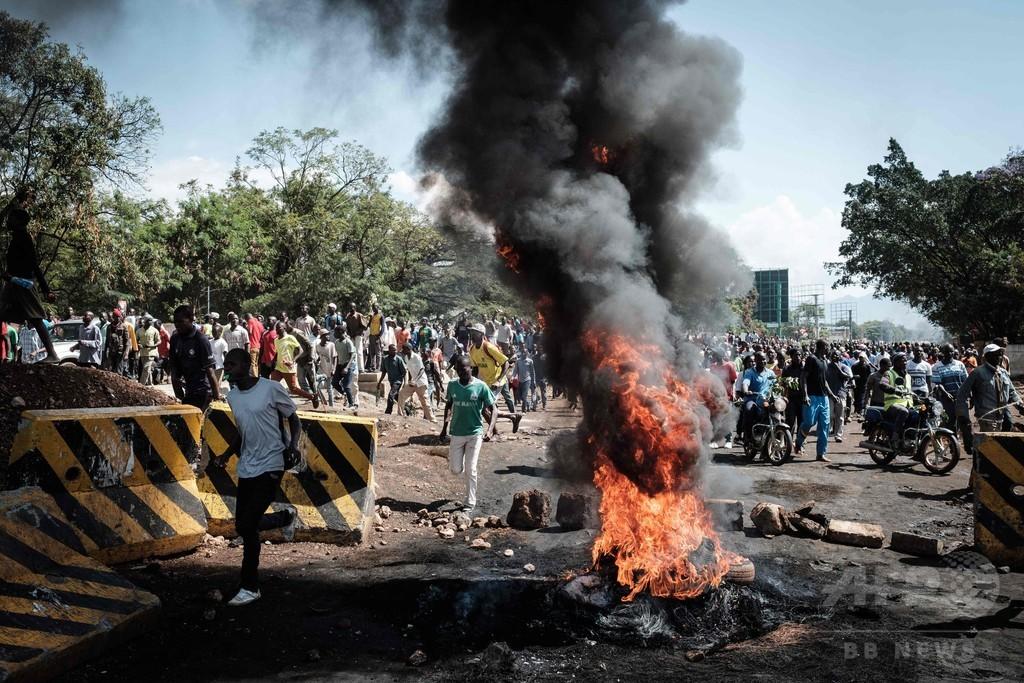 ケニア大統領選、野党候補の再選挙不出馬で衝突 複数の負傷者