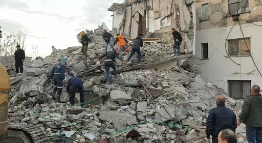 動画:アルバニアでM6.4の地震、4人死亡 現地の映像