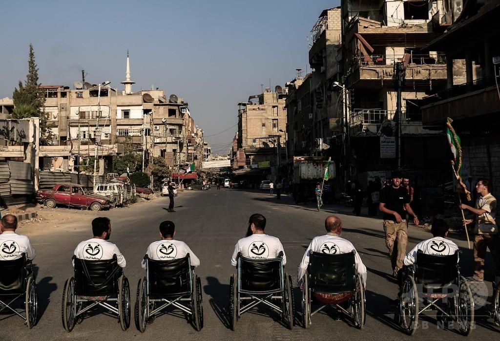 内戦続くシリアの町で小さな「パラリンピック」