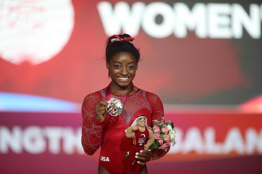 女王バイルス、世界体操金メダル獲得数で新記録を樹立