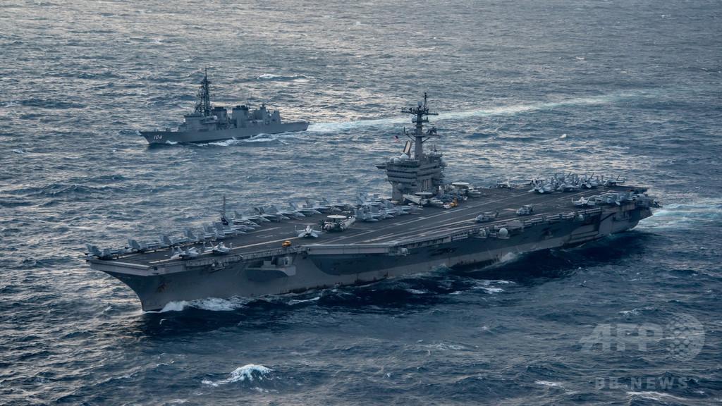 日米韓、北の潜水艦を念頭に海軍合同軍事演習
