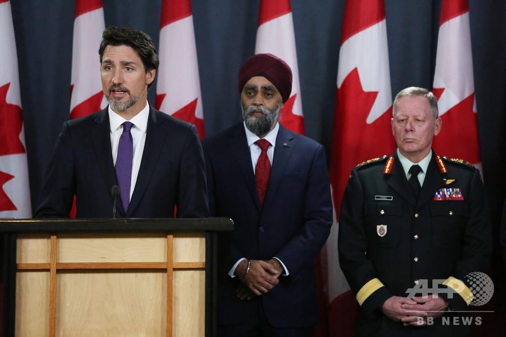 旅客機はイランが撃墜 カナダ首相、情報入手と発表