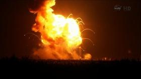 動画:米無人補給機打ち上げ失敗、爆発の瞬間