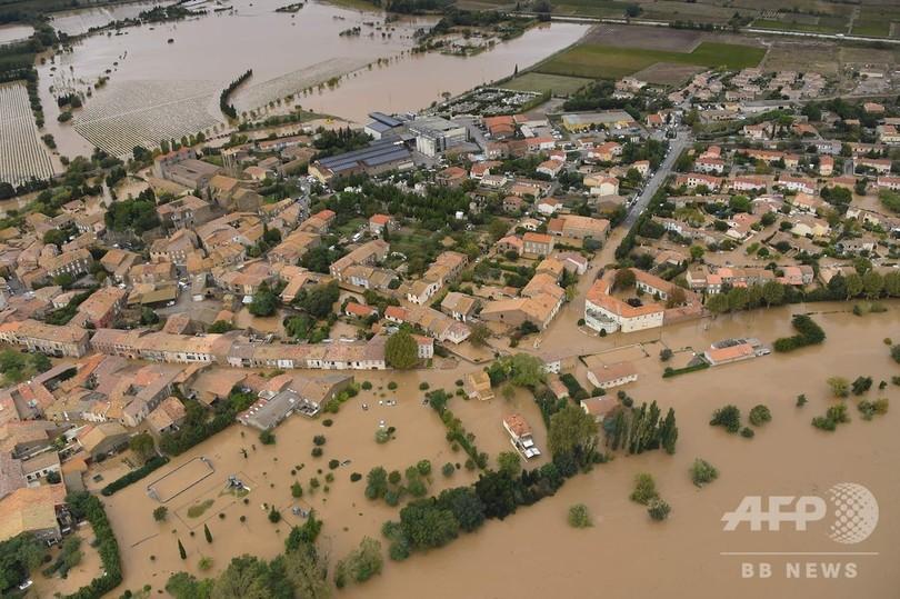 仏南西部、豪雨による河川氾濫で11人死亡